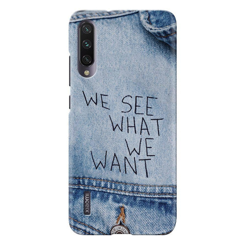 denim quote design designer back cover xiaomi mi a3 printnawab