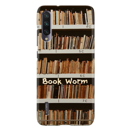 book worm design designer back cover xiaomi mi a3 printnawab