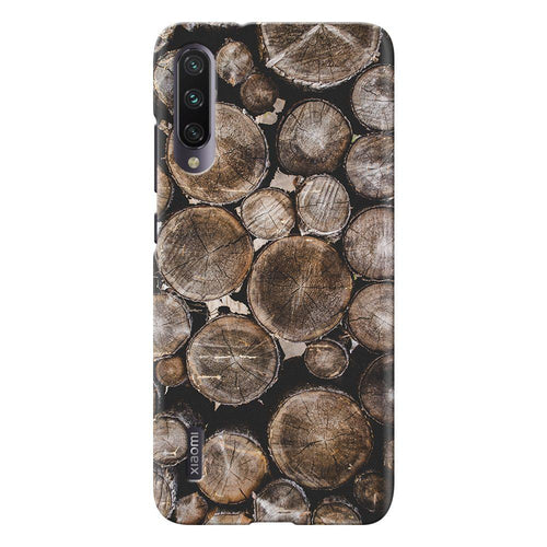 wooden log design designer back cover xiaomi mi a3 printnawab