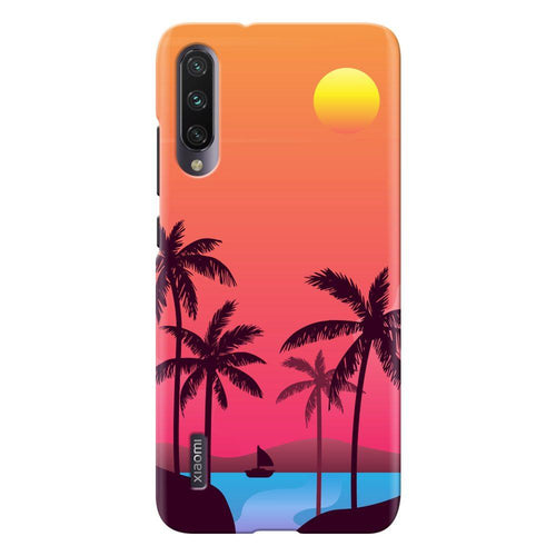 sunset beach design designer back cover xiaomi mi a3 printnawab