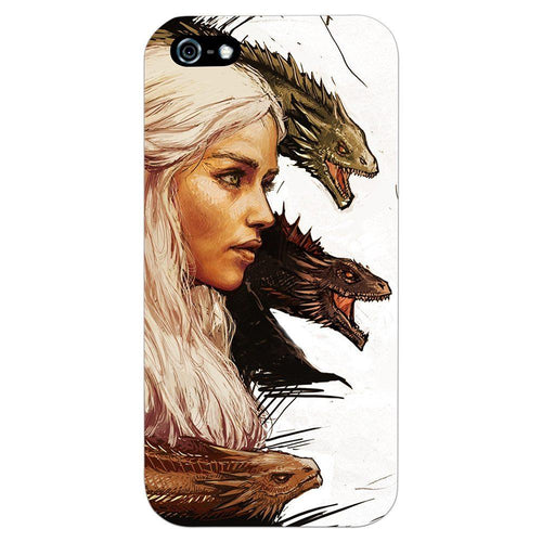 Game of Thrones Daenerys with Dragons Design Cover - iPhone 5 - PrintNawab