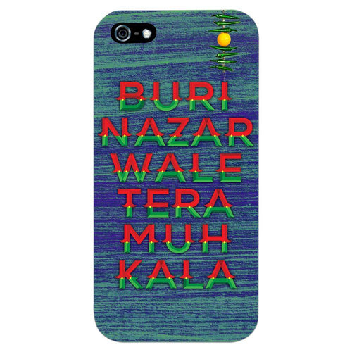 Buri Nazar Blue Quote Design Cover - iPhone 5 - PrintNawab
