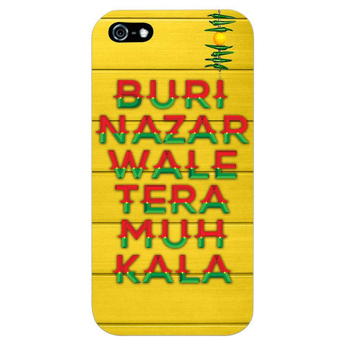 Buri Nazar Yellow Quote Design Cover - iPhone 5 - PrintNawab