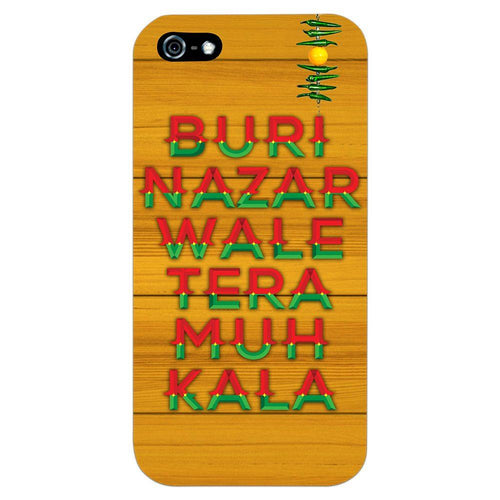 Buri Nazar Orange Quote Design Cover - iPhone 5 - PrintNawab