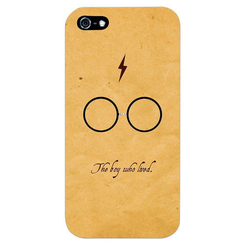 Harry Potter Glasses Design Cover - iPhone 5 - PrintNawab