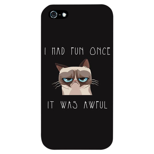 Grumpy Cat Quote Design Cover - iPhone 5 - PrintNawab