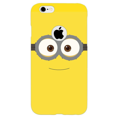 Despicable Minions Face Design Cover - iPhone 6s Logo Cut - PrintNawab