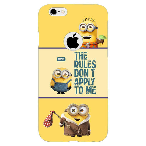 Despicable Minions Quote Design Cover - iPhone 6s Logo Cut - PrintNawab