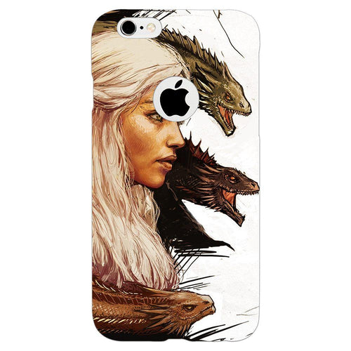 Game of Thrones Daenerys with Dragons Design Cover - iPhone 6/6S Logo Cut - PrintNawab