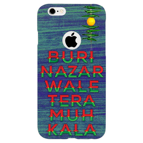 Buri Nazar Blue Quote Design Cover - iPhone 6s Logo Cut - PrintNawab