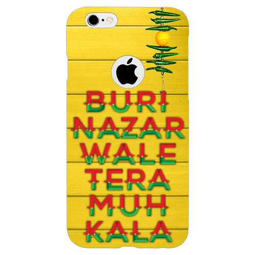 Buri Nazar Yellow Quote Design Cover - iPhone 6s Logo Cut - PrintNawab