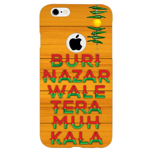 Buri Nazar Orange Quote Design Cover - iPhone 6s Logo Cut - PrintNawab