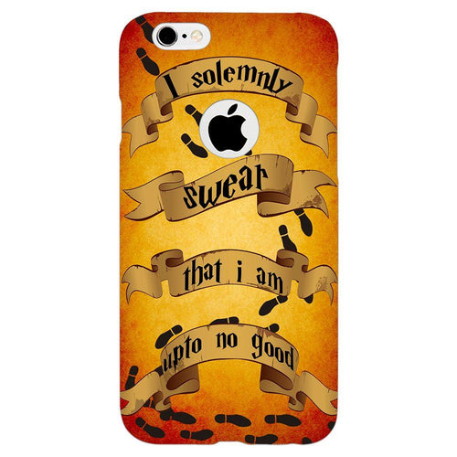 Harry Potter Marauder's Map Quote Design Cover - iPhone 6/6S Logo Cut - PrintNawab