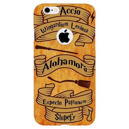 Harry Potter Spells Design Cover - iPhone 6/6S Logo Cut - PrintNawab