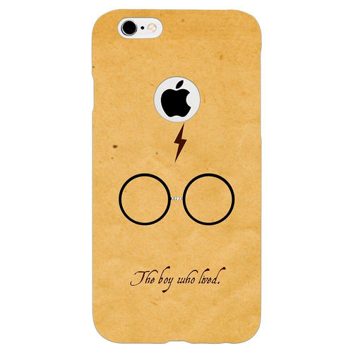 Harry Potter Glasses Design Cover - iPhone 6/6S Logo Cut - PrintNawab