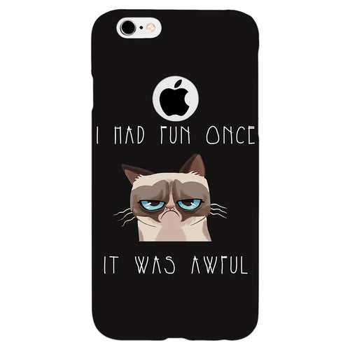 Grumpy Cat Quote Design Cover - iPhone 6/6S Logo Cut - PrintNawab