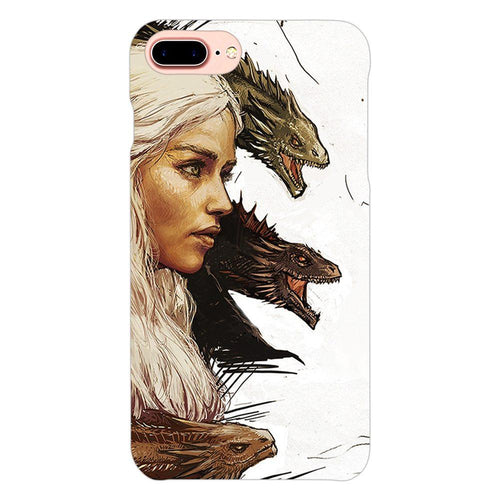 Game of Thrones Daenerys with Dragons Design Cover - iphone 8 plus- PrintNawab