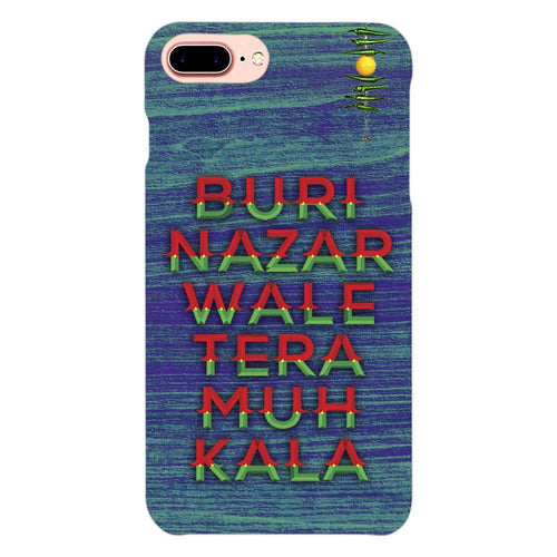 Buri Nazar Blue Quote Design Cover - iphone 8 plus- PrintNawab