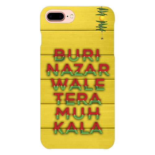 Buri Nazar Yellow Quote Design Cover - iphone 8 plus- PrintNawab