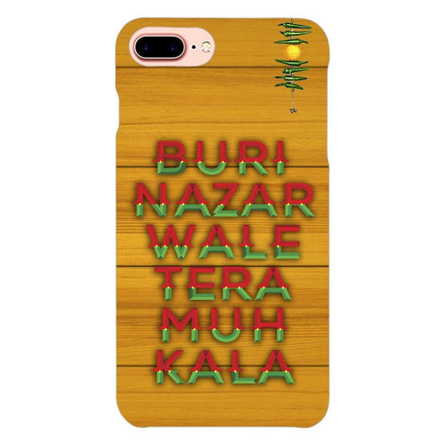 Buri Nazar Orange Quote Design Cover - iphone 8 plus- PrintNawab
