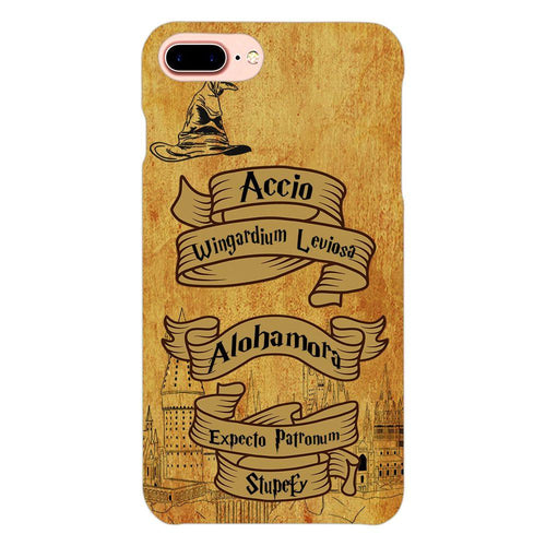 Harry Potter Spells Design Cover - iphone 8 plus- PrintNawab