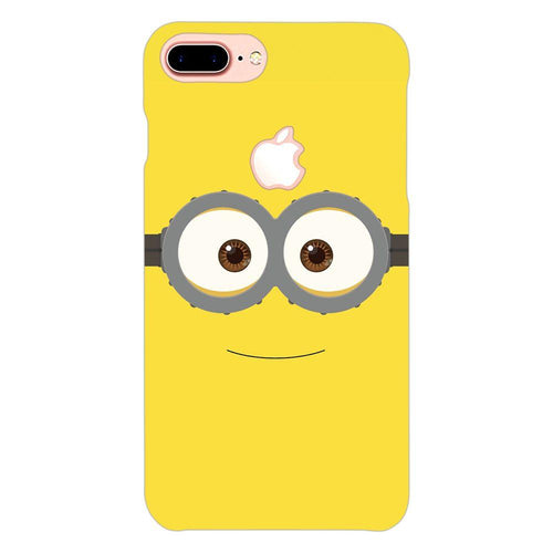 Despicable Minions Face Design Cover - iphone 8 plus logo cut - PrintNawab