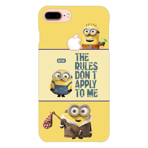 Despicable Minions Quote Design Cover - iphone 8 plus logo cut - PrintNawab