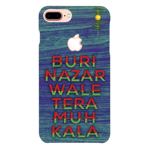 Buri Nazar Blue Quote Design Cover - iphone 8 plus logo cut - PrintNawab
