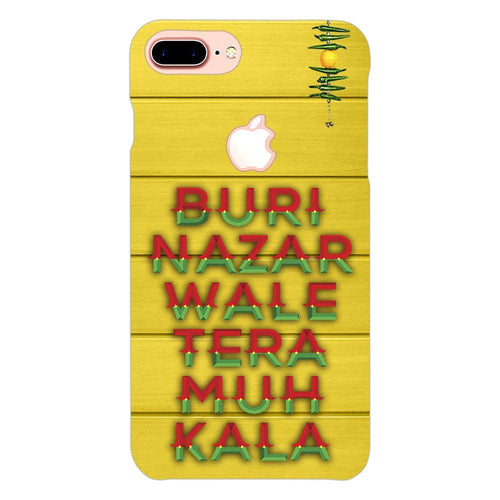 Buri Nazar Yellow Quote Design Cover - iphone 8 plus logo cut - PrintNawab
