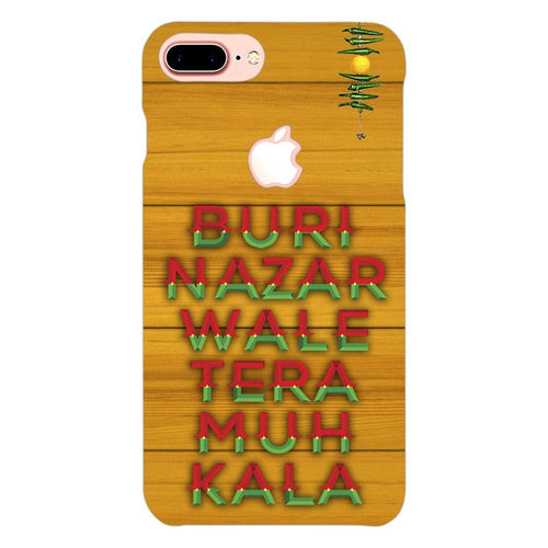 Buri Nazar Orange Quote Design Cover - iphone 8 plus logo cut - PrintNawab