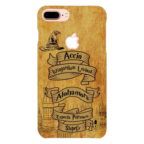 Harry Potter Spells Design Cover - iphone 8 plus logo cut - PrintNawab