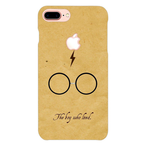 Harry Potter Glasses Design Cover - iphone 8 plus logo cut - PrintNawab