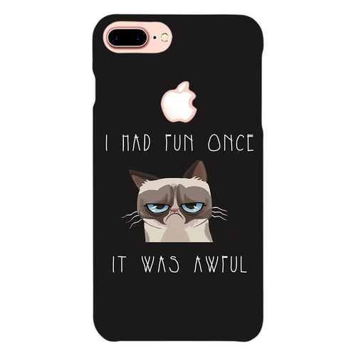 Grumpy Cat Quote Design Cover - iPhone 8 Logo Cut - PrintNawab