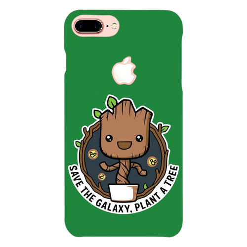 Baby Groot Nature Design Cover - iphone 7 plus logo cut - PrintNawab
