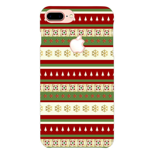Christmas Theme Pattern Cover - iphone 7 plus logo cut - PrintNawab