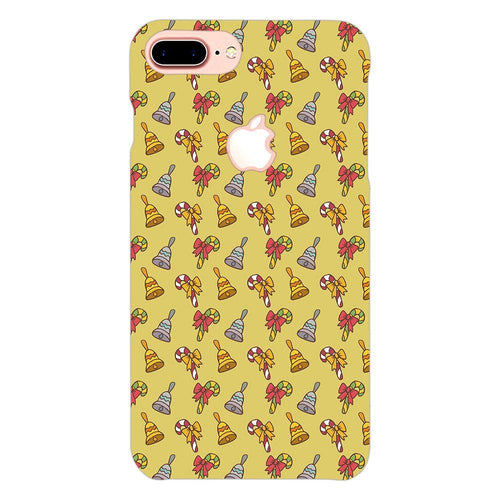 Christmas Bell Pattern Cover - iphone 7 plus logo cut - PrintNawab