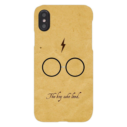 Harry Potter Glasses Design Cover - iphone X - PrintNawab