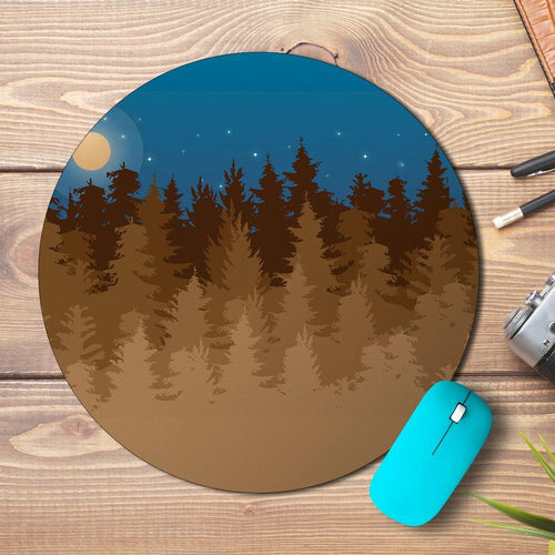 Forest Night Design Mousepad - PrintNawab