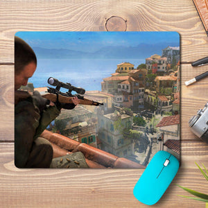 Sniper Aim Game Design Mousepad