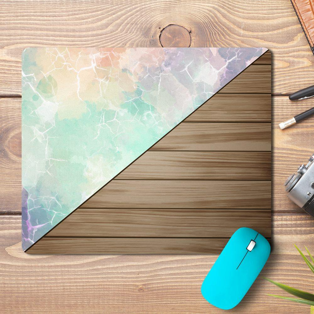 Marble Wood Design Mousepad