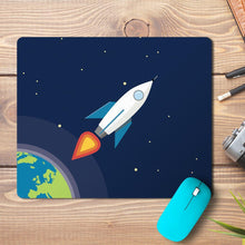Load image into Gallery viewer, Space Rocket Design Mousepad