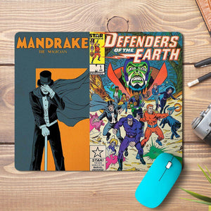 Defender of Earth Comic Design Mousepad - PrintNawab