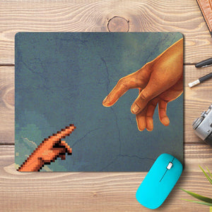 Pixel Hand Touch Design Mousepad