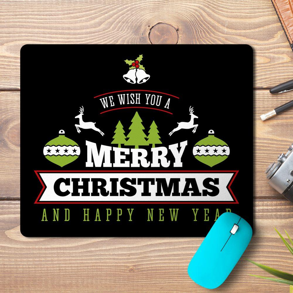 Merry Christmas New Year Wish Design Mousepad
