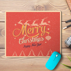 Merry Christmas New Year Wishes 3 Design Mousepad