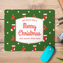 Load image into Gallery viewer, Merry Christmas New Year Abstract 3 Design Mousepad