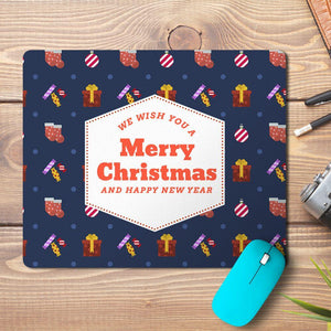 Merry Christmas New Year Abstract 6 Design Mousepad