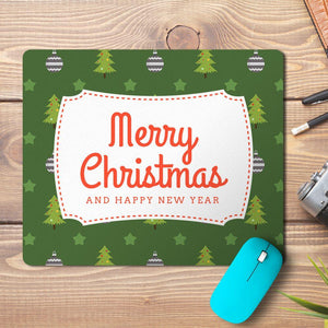 Merry Christmas New Year Abstract 8 Design Mousepad