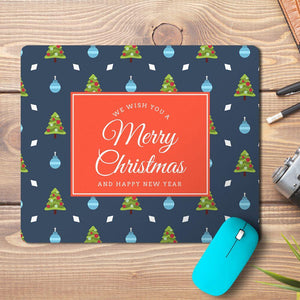 Merry Christmas New Year Abstract 9 Design Mousepad