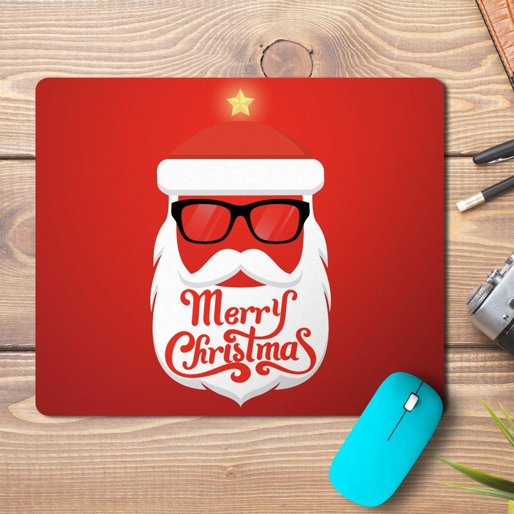 Merry Christmas Santa Beard Design Mousepad